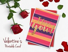 Valentines Day Card, Valentine Card, Love Card, Anniversary Card for Boyfriend or Girlfriend, Valentines Greeting Card.
