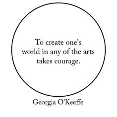 Quote of the day from the lovely artist: Georgia O'Keeffe. #art #quote #artist #flowers #inspirationalquotes
