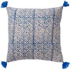Blockprint Indigo Cotton Cushion Cover > Cushions & Cushion Covers > Home Furnishings > Namaste Fair Trade > Namaste-UK Ltd Printed Cushions, Cushion Covers, Printing On Fabric, Indigo, Soft Furnishings, Fair Trade, Printed Cotton, Namaste