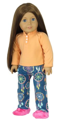 American Girl Doll Clothes - Silly Monkey - Dreamcatcher Pajamas, $14.00 (http://www.silly-monkey.com/products/dreamcatcher-pajamas.html)