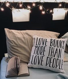 """FOR THE NEXT 6 HOURS  Get 15% off everything in my Society6 store AND free worldwide shipping  Don't miss out! Ends at Midnight PT   """"I love books more than I love people!"""" design on a pillow! It's also available on clothing mugs phone cases totes pillows and much more!  by @clockworkbibliophile  Don't forget to tag your photos of my products with #bookwormboutique so I get to see them!  link to Society6 store in bio! Get your studio pouches travel mugs notebooks and more in my Redbubble…"""