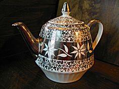 Vintage Gibson Athens Gold Tea Pot