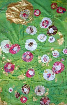 Champs de fleurs à la manière de Klimt