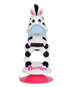 Look what I found on #zulily! Zoey the Zebra Suction Cup Toy #zulilyfinds