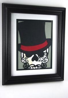 Cut Paper Sugar Skull Day of the Dead Dia de los by MinksPaperie