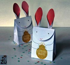 PAPERMAU: Easter Celebration - Little Bunny Gift Bag Paper Model - by Zu Galerie
