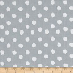 Dear Stella Pura Vida Ikat Dot Dove from @fabricdotcom  Designed by Rae Ritchie for Dear Stella, this cotton print fabric features tonal polka dots and is perfect for quilting, apparel and home decor accents. Colors include shades of grey.