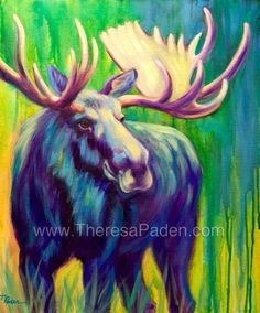 abstract moose painting - Google Search