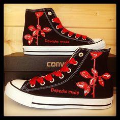 "Gefällt 67 Mal, 6 Kommentare - Custom Converse (@customconverseuk) auf Instagram: ""Depeche Mode Converse #converse #customconverse #chucks #depechemode #kicks #allstars"""