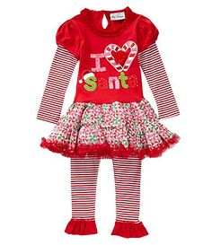 a181d68f4 Available at Dillards.com #Dillards Baby Girl Christmas, Striped Leggings, Christmas  Clothes