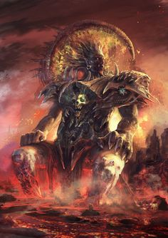 for brutal death metal cover art My Fantasy World, High Fantasy, Fantasy Concept Art, Fantasy Art, Fantasy Creatures, Mythical Creatures, Satan, Humanoid Creatures, Cool Monsters