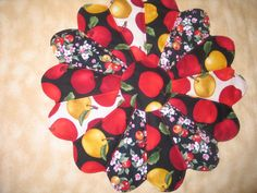 Red and Yellow Delicious Apples 165 Table by sewcalico65 on Etsy, $14.25