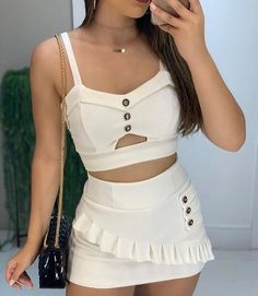 Colourful Outfits, Trendy Outfits, Two Piece Outfit, Two Piece Skirt Set, Bollywood Outfits, Indian Fashion Trends, Really Cute Outfits, Romper Outfit, Outfit Goals