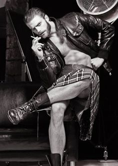 Scottish Steampunk!!! Ooooo if I could get my husband to dress this way!.F | Nikolai Rasmussen | Fashion Model Management S.p.A.