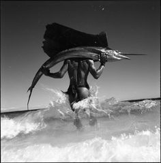 Sailfish, by Gian Paolo Barbieri on Curiator, the world's biggest collaborative art collection. Black White Photos, Black And White Photography, Monochrome Photography, Herb Ritts, Going Fishing, Red Fish, Fashion Images, Fashion Art, Style Fashion