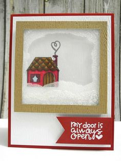 Created by Jennifer for the Simon Says Stamp Wednesday Challenge (Ice Inspiration) January 2014 Unique Cards, Creative Cards, Paper Cards, Diy Cards, Holiday Cards, Christmas Cards, Window Cards, Paper Smooches, Friendship Cards