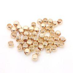 DIY饰品材料配件批发 24K包金色方粒隔珠 厂家直销