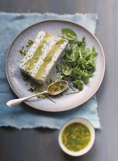 Leek terrine with fresh goat cheese - - Veggie Recipes, Vegetarian Recipes, English Desserts, Dough Recipe, Palak Paneer, Goat Cheese, Entrees, Tapas, Goats