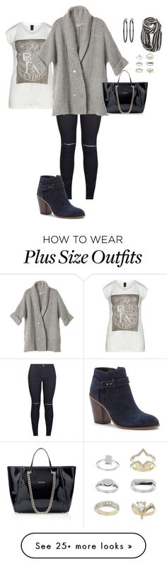 """""""my plus size fall/winter weekend look"""" by kristie-payne on Polyvore featuring Sole Society, White House Black Market, Avenue and Topshop"""