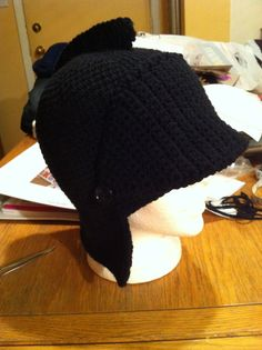 Tuque chevalier noir/ black knight hat