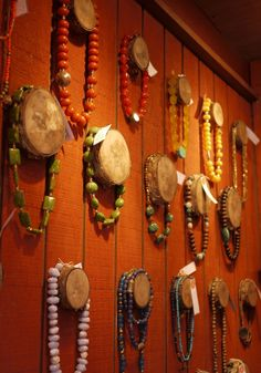 @Kerry Aar Aar Aar Murphy Wooden necklace display at SdV Designs at Columbus Circle Holiday Market