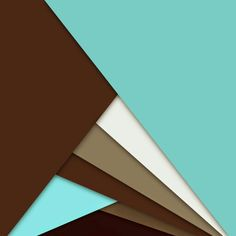 Android Material Design - Blue,  Brown and White Overlapped.