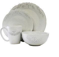 White Dinnerware Set Dishes Dinner 16 Piece Kitchen Bowls Plates Mugs Service 4