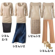 How to Use the Golden Mean Proportions When Dressing - Inside Out Style Capsule Wardrobe, Image Coach, Inside Out Style, Look Fashion, Womens Fashion, Body Proportions, Rule Of Thirds, Business Outfit, Fashion Advice