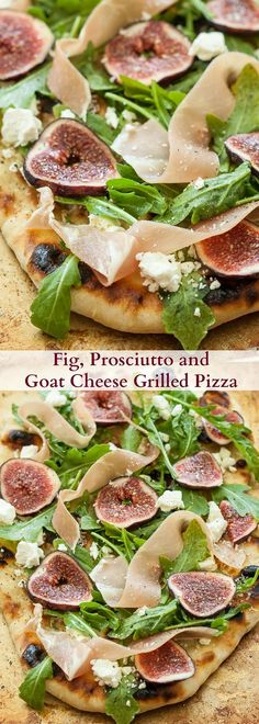 Fig, Prosciutto and Goat Cheese Grilled Pizza | The perfect balance of salty and…