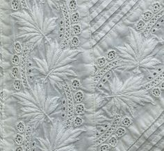 Broderie Anglaise christening dress, 1880s,  / detail