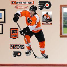 I neeeeddddddd this wall--Scott Hartnell, Philadelphia Flyers Scott Hartnell, Philadelphia Flyers, Baby Boy Nurseries, Modern Man, Pennsylvania, Nhl, Hockey, Cave, Nursery