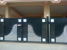Modern Style Gate Design Simple Home - Home Ideas Home Gate Design, Gate Wall Design, House Main Gates Design, Front Gate Design, House Front Design, Entrance Design, Fence Design, House Front Gate, Front Gates