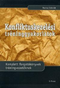 Konfliktuskezelési tréninggyakorlatok könyv borító Schmidt, Therapy