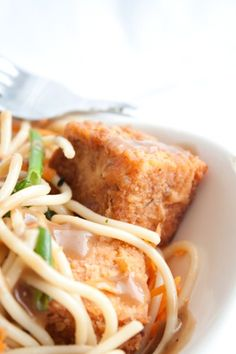crispy battered and fried tofu via Can you Stay for Dinner?