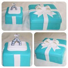 Tiffany's ring box wedding cake http://instagram.com/wellkneadedbakery