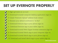 Set up Evernote properly #realestateagent #workefficiently