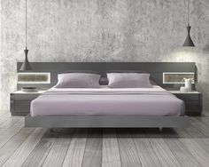 Lacquered Stylish Wood Elite Platform Bed with Long Panels Las Vegas Nevada [JMBRA] : Prime Classic Design, Italian modern furniture: luxury designer and genuine leather sectionals, dining room and bedroom sets distributor