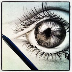 [Eyeball] Pencil Sketch by Rissa Bean