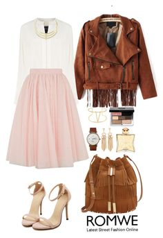 """""""Romwe 9"""" by amra-f ❤ liked on Polyvore featuring Derek Lam, Ted Baker, Vince Camuto, Triwa, Hermès, Bobbi Brown Cosmetics, Fall, 1d, romwe and 5sos"""