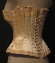 Antique Wedding Corset from Paris, 1880 Corsets, Wedding Corset, Victorian Corset, Doll Costume, Vintage Lingerie, Costume Design, Women Accessories, Underwear, Vintage Fashion