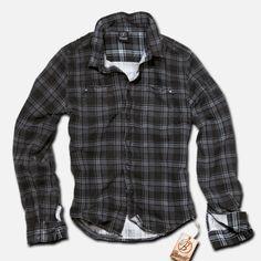 Brandit - Wire Darkgrey-Purple Checkered - Camisa de manga larga - Hombre