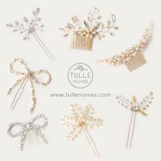 Algumas das nossas lindas opções de arranjos! 💖 Aproveite o feriado para escolher com tranquilidade seu acessório para o grande dia, acesse nosso site e conheça o catálogo completo: www.tullenoivas.com