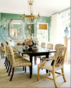 formal dining with art