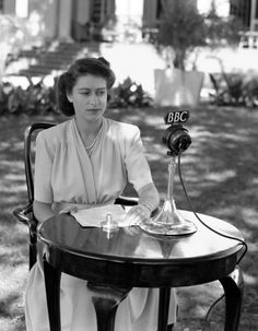 """Watching Windsor:  then Princess Elizabeth about to deliver her speech on her 21st birthday (4/21/47) to pledge her life to the service of her country, South Africa-""""I declare before you all that my whole life, whether it be long or short, shall be devoted to your service"""""""