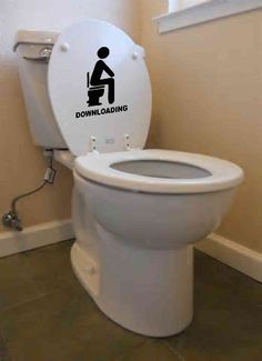 My #1 Selling Vinyl Decals: DOWNLOADING Bathroom Sign (7 X 9 Inches) Apollo's Products http://www.amazon.com/dp/B00JZXXQDG/ref=cm_sw_r_pi_dp_Y.LCvb15AMA15