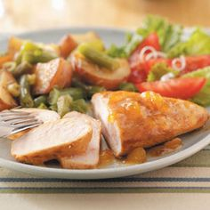 Apricot Honey Chicken Recipe from Taste of Home -- shared by Kathy Hawkins of Ingleside, Illinois  #healthy #low_cal #low_fat #low_sodium