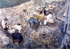 A Game of Draughts -  Edouard Vuillard - 1906
