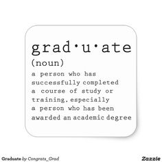 Graduate Square Sticker