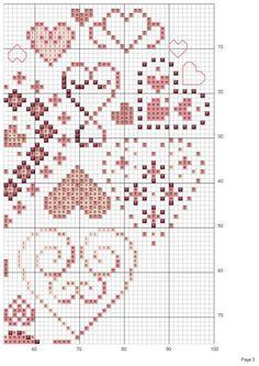 Cross Stitch Boards, Mini Cross Stitch, Cross Stitch Heart, Cross Stitching, Cross Stitch Embroidery, Hand Embroidery, Cross Stitch Patterns, Heart Patterns, Beading Patterns
