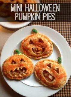 Mini Halloween Pumpkin Pies